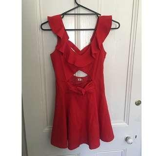 Size 8 red ask grace dress
