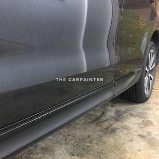 Subaru Forester Side Windows Dechrome Plastidip Spray Service Plasti Dip