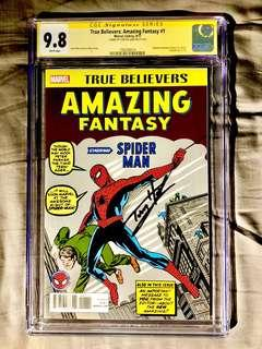 Amazing Fantasy #15 (True Believers) CGC 9.8 SS signed by MCU 'Spiderman' actor Tom Holland