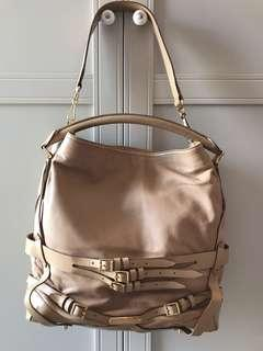 Barely used Tan coloured Burberry genuine leather bag