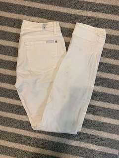 7 for all mankind jeans white size 26