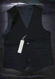 日本時尚潮牌Hare黑色中性款背心外套