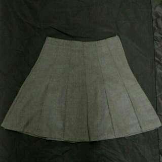 🚚 ⭐日牌 深灰色百褶短裙