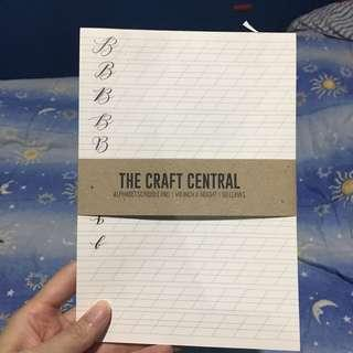 The Craft Central Alphabet Scribble Pad Calligraphy