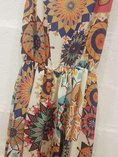 fish tail patterned dress