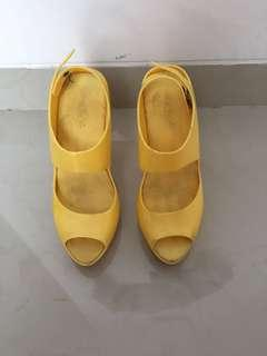 Yellow Heels Jelly Shoes