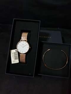 11.11 Sale Daniel wellington melrose white with cuff $140 only