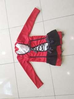 Halloween Costume - Little Red Riding hood (suitable for kids 120cm height)