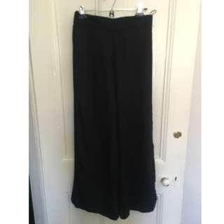 Black flowy formal pants with slits