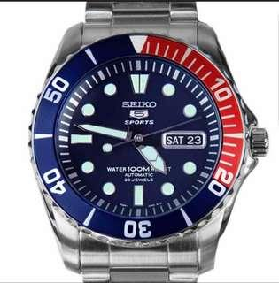 Brand New In Box Seiko Automatic Divers Watch 23 Jewels 100m Watch SNZF15K1 SNZF15K SNZF15