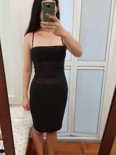 🚚 Nuvola Black Sleeveless Dress