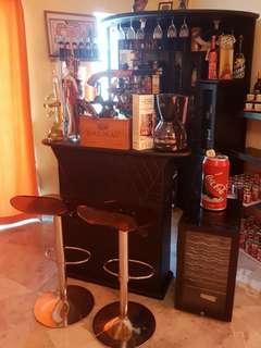 2 pcs Bar counters+2 pcs bar stool+1 wine chiller