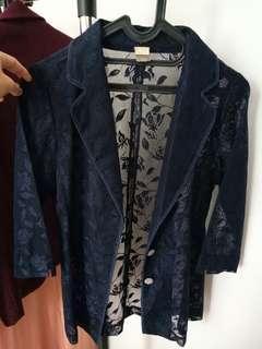 Vintage blazer - Navy blue. Free shipping Jabodetabek