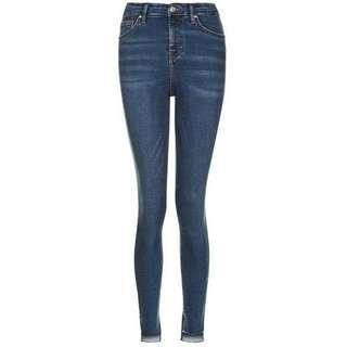 Topshop Split Step Raw Hemmed Jamie Jeans