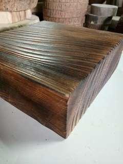 🚚 方形碳化檜木 木座 木台 擺設
