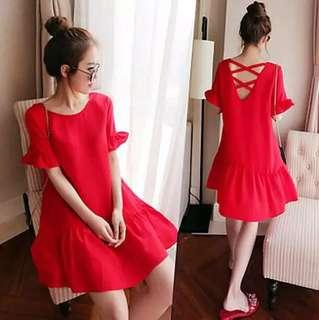 Red Two-Side Dress (two way)