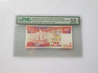 Fancy 777999 $10 Ship PMG Graded 53