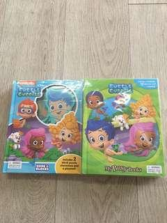 Nickelodeon Bubble Guppies Set- Book and Blocks and My Busy Books