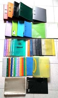 Assorted Files, Clear File, Clear Folders, File Dividers, Document Carrier, Clip Board