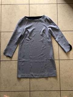 Zara dress warna biru muda ke abu2