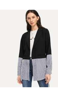 Two tone blazer , stripe