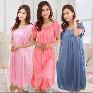 1111 sales! Lingerie sleepwear Long silk dress
