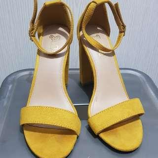 Payless yellow sandals with heels