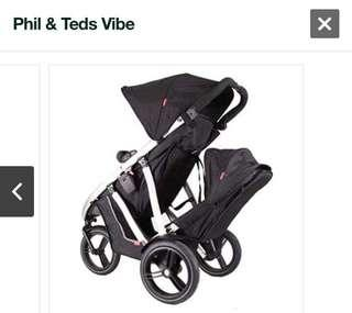 Phil & Ted Vibe 1 Double Stroller