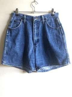 Wrangler high waist denim shorts