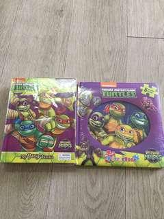 Nickelodeon Teenage Mutant Ninja Turtles Bundle-My Busy Book and My First Puzzle Book