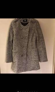 🚚 排釦修身混毛厚外套