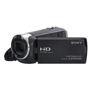 Lightly Used Sony HDR-CX405 HD Handycam Exmor R CMOS sensor Carl Zeiss zoom lens extra battery bag box