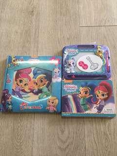 Nickelodeon Shimmer and Shine My First Puzzle and A set of Storybook and Magnetic Drawing Kit