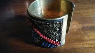 Colorful beaded and scaled armlet
