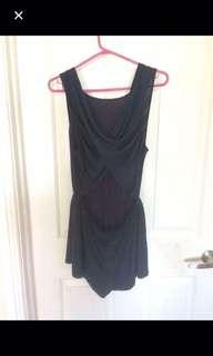Size 8 navy playsuit