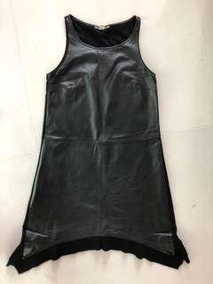 DKNY Jeans Leather Front Dress