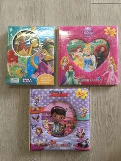 Disney princess- Book and Blocks, 2 My First Puzzle Book
