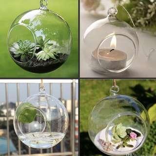Hanging Glass Orb Holder