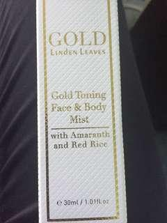 Linden leaves gold toning face and body mist