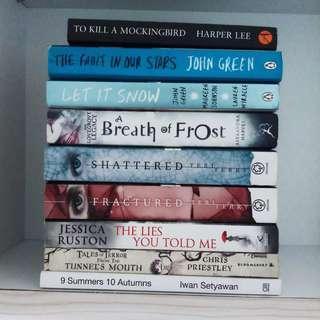 BOOKS (john green, harper lee etc)
