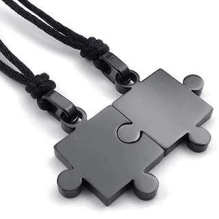 Matching Couple Puzzle Necklace Perfect Puzzle Pieces