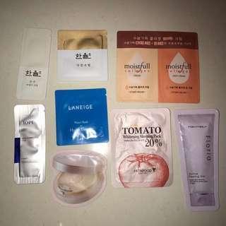 Korean skin care samples