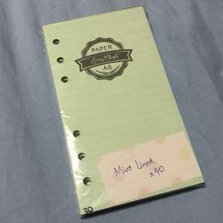 [WTS / CLEARANCE INSTOCK] A6 Love Doki Dokibook Inserts Planner Mint Line Expenses Plain