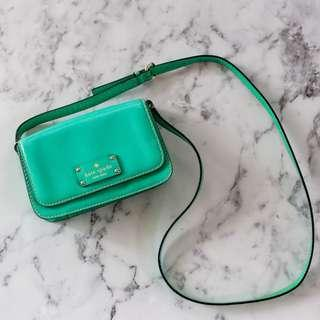 KATE SPADE Wellesley Fynn Crossbody Bag in 'Fiji' green