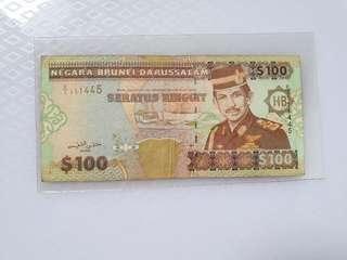 $100 Brunei 1996