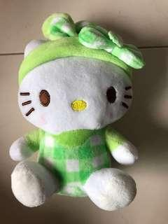 Hello Kitty Plush Toy - lime green