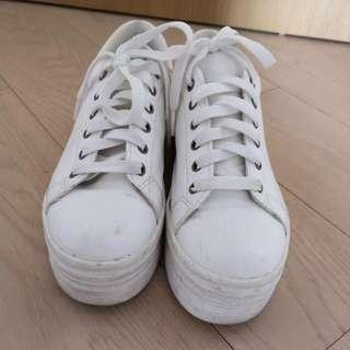 White Platform Shoes (made in Korea)