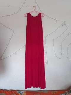 Sleeveless dress hot pink