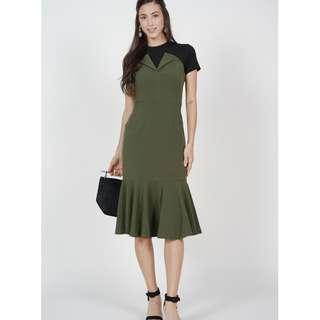 BNWT MdsCollections Flap-Over Flare Midi Dress