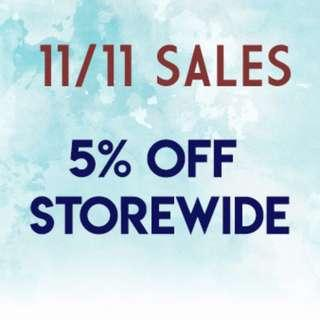 11/11 DAY SALES !!!